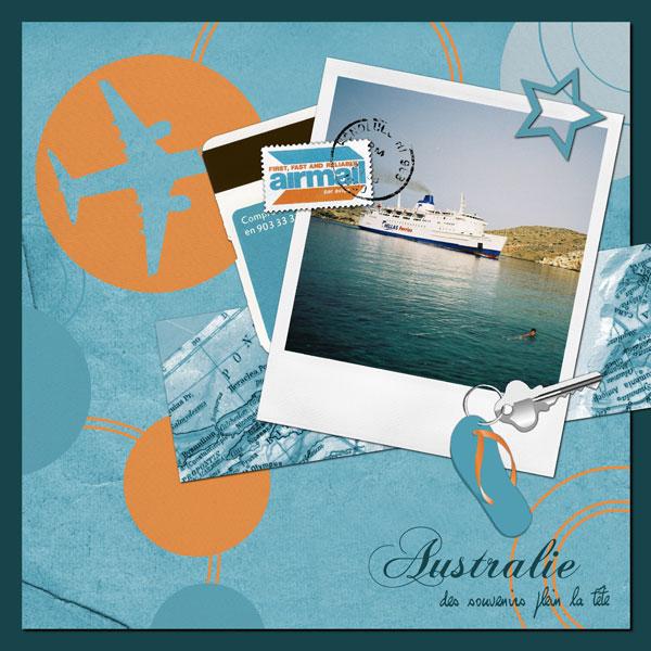 scrapbooking voyage australie