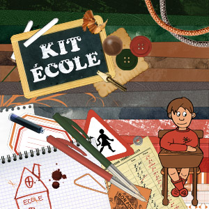 Kit digital de scrapbooking Ecole