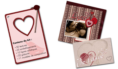 Kit Saint Valentin de scrapbooking