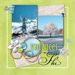 a scrapbooking style photo layout
