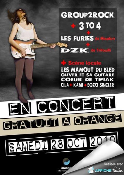 Affiche pour un concert
