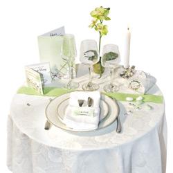 Décoration de tables pour un mariage
