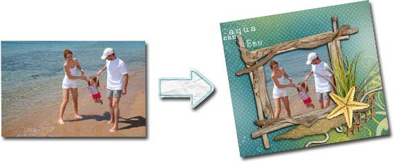 Mise en place d'une photo dans un modèle
