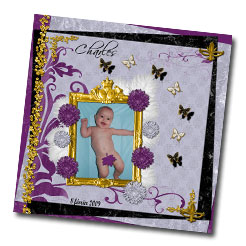 Kit digital de scrapbooking Esprit baroque