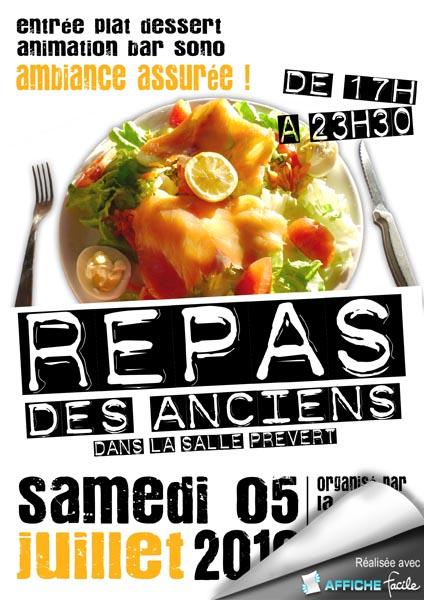 Affiche pour le repas des anciens