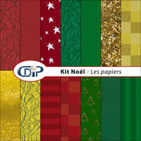 Kit Noël de scrapbooking