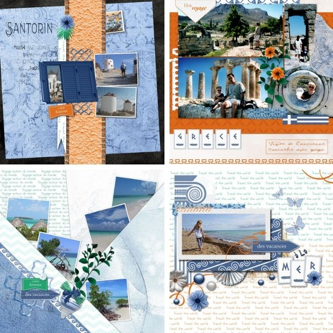 kit Souvenirs de Grèce les compos digiscrap